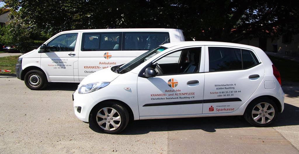 Kleinwagen und Kleinbus des CSW Raubling